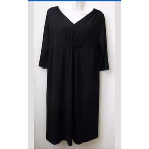 GEORGE Dress Black Size S 3/4 Sleeve Stretch